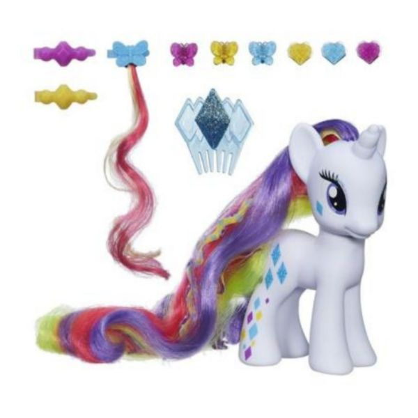 Hasbro My Little Pony Styling Strands Fashion Pony Rarity Super Long Hair